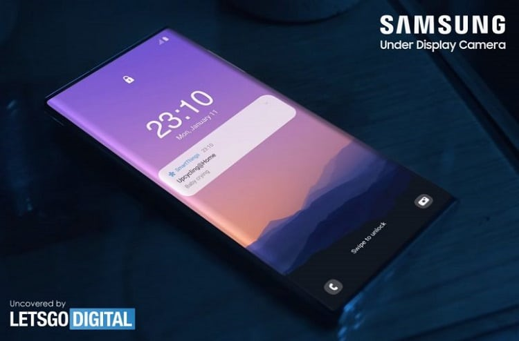 Galaxy Note 21 Ultra lộ diện với camera ẩn dưới màn hình?