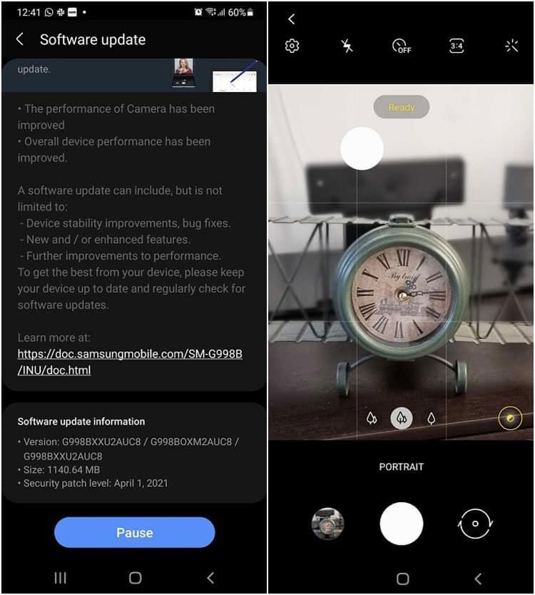 Galaxy S21 nhận bản cập nhật lớn với cải tiến camera cùng bản vá bảo mật tháng 4