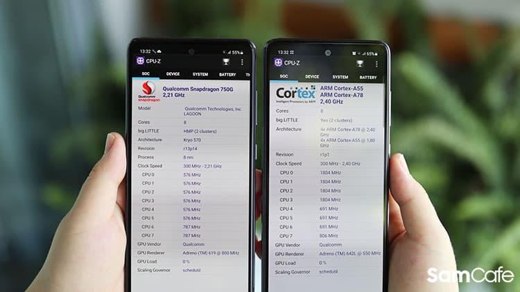 So sánh Galaxy A52s và Galaxy A52 5G