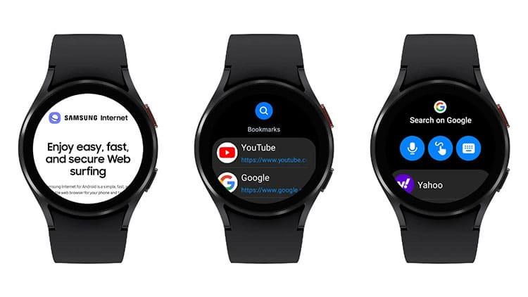 Galaxy Watch 4 Samsung Internet